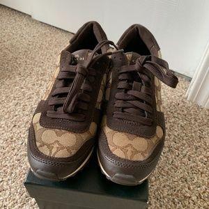 NWB coach sneakers monogram lace US6.5